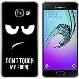 Coque pour Samsung Galaxy A3 (2016) 4,7 Pouces Smartphone - MaiJin Dessin de Don't Touch My Phone Gel TPU Bumper Téléphone Silicone Étui Housse Protecteur