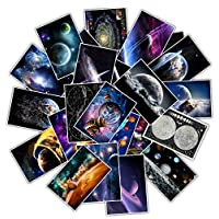 25Pcs Waterproof Nine planets DIY Stickers moon earth Galaxy solar system Decals for Kids Laptop Fridge Luggage Sticker