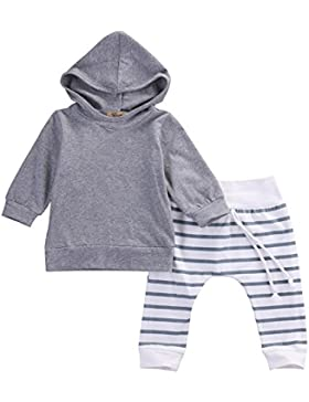 Neugeborene Baby Jungen Mädchen-mit Kapuze Oberseite + Legging Hosen Ausstattungs-gesetzte Kind Kleidung