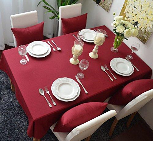 Superwinger Pure color lavabile cena tovaglia per picnic, dimensioni assortite., Red, 60*60cm(24x24 inch)