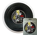 Double Ar - Corda Da Tennis Furia, Monofilamento Co-Estrusione Di Polyammide 1.22mm, Nera. Matassa 200Mt