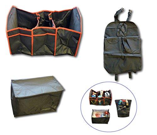 Preisvergleich Produktbild 3er Set Auto PKW KFZ LKW Van Kofferraumkorb Kofferraum-Tasche Faltbox Faltkorb Sitz-Organizer Isoliertasche Isobox
