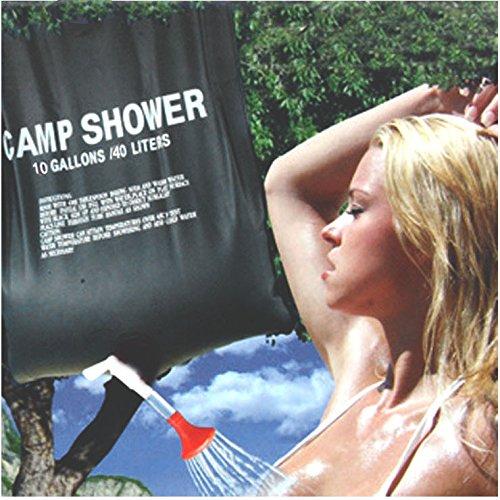 Colorfulworld 20 LITERS PORTABLE Outdoor-Dusche mit Dusche Tasche Campingdusche Gartendusche PVC Solardusche bath water storage shower im Freien Campingzubehör