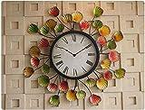 ZHDC® Americani stile creativo Orologi ferro e orologi variopinto di figura Banana Leaf Soggiorno orologio Wall Art Camera Orologio da parete Orologio da tasca Home wall clock
