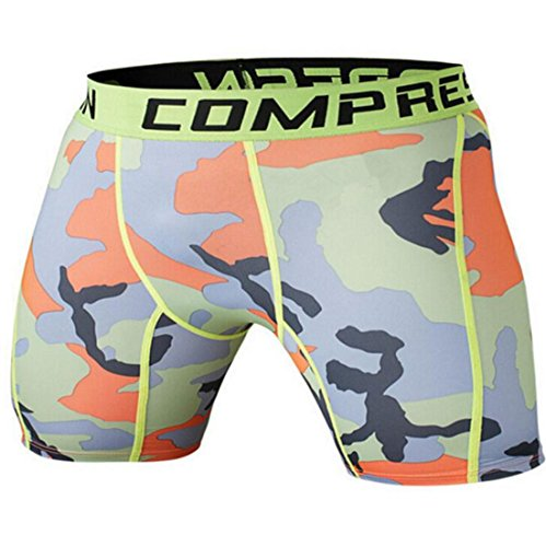 Men's Army Military Fitness Gym Running Compression Shorts . as pic 4