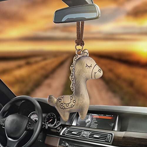 Inveroo Auto Ornamente Auto Anhänger Kleine Baby Pferd Colt Innen Rückspiegel Spiegel Dekoration Hängen Deko Hip-hop Auto Zubehör