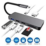 USB C Hub, Type C Hub with 7 in 1 Multi-port HDMI 4K