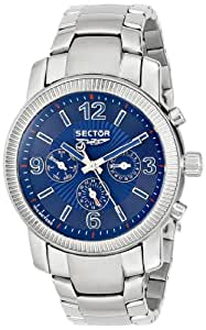 Sector Men's Watch R3273639035 In Collection Explorer With Blue Dial & Silver Colour Stainless Steel Strap