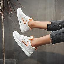 6d83a835 NGRDX&G Zapatos Casuales De Malla Transpirable Zapatos Blancos Femeninos,  Naranja, ...