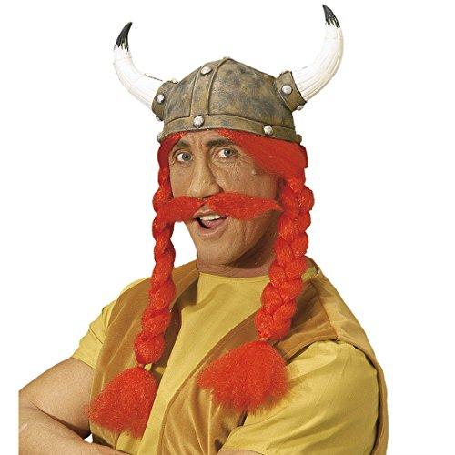 Asterix und Obelix Latex Hut Gallier Hüte Karneval Gallierhelm Obelixhelm Kopfbedeckung Fasching Karneval Kostüm (Kostüm Asterix Der Gallier)