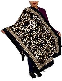 Sanvitta's Jamawar Print Viscose Women's Stole Shawl Wrap Dupatta - B078T9T9XQ