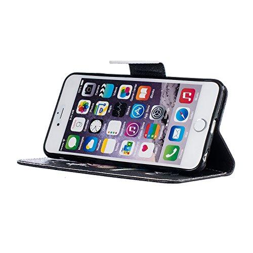 Etui IPHONE 6PLUS, Frlife| Housse Portefeuille Coque Protection pour IPHONE 6PLUS, en PU Cuir, avec Stand et Rangement Cartes, Case Cover couleur 3