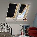 Auralum® 96x100 cm Dachfensterrollo Sonnenschutz Verdunkelungsrollo mit Krafthaftsaugern ohne Bohren 100% Polyester für Velux Dachfenster