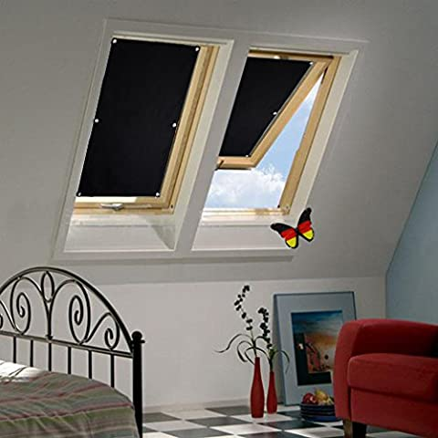 Auralum Store Occultant Sans Perçage 48×93cm pour Velux Fenêtre de Toit Réfléchissement de Chaleur Enduit de l