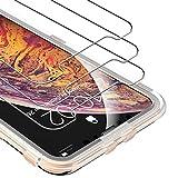 UNBREAKcable [3 Stück] Panzerglas Schutzfolie für iPhone XS Max - 2.5D 9H Härte Panzerglasfolie für iPhone XS Max (6.5 Zoll) - [Blasenfrei, bruchsicher, Freier Installationsrahmen, Case Friendly]