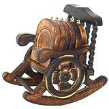Super India Untersetzer, Holz, antikes Design, handgefertigt, mit Schaukelstuhl-Ständer, 6 Stück