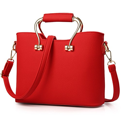 koson-man-womens-charming-noble-elegance-pure-color-fashionable-tote-bagsred