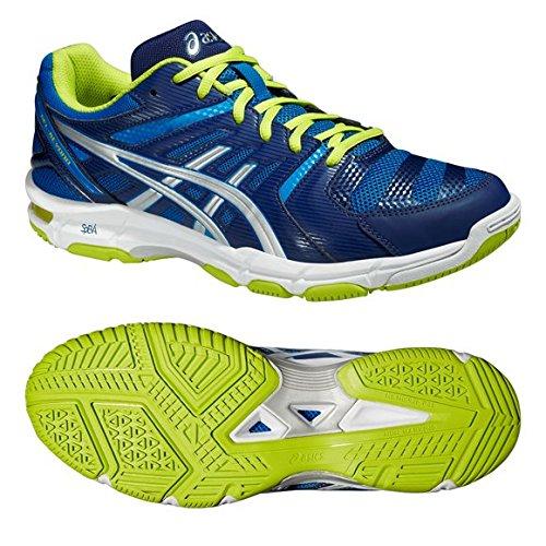 asics gel beyond,Chaussures de volley ball homme Asics Gel Beyond jaunes et  bleues