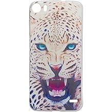 Guran® Silicona Funda Carcasa para Doogee F3 / F3 Pro Smartphone Bumper TPU case Cover-Leopardo