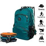 20L Zaino Leggero Viaggio Pieghevole Daypack Zaino Trekking impermeabile per sport all'aperto, escursionismo, viaggi, campeggio, bicicletta, Lake Blue