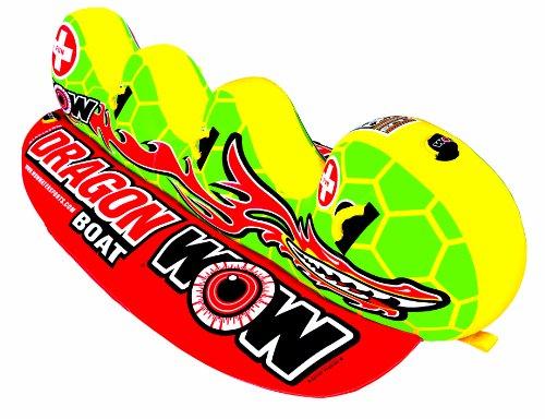 WOW World of Wassersport 13–1060, Dragon Boot aufblasbar, nachziehbar Ski Tube, 3Personen
