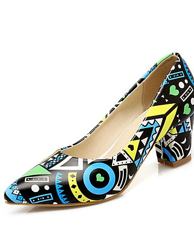 WSS 2016 Chaussures Femme-Mariage / Habillé / Soirée & Evénement-Bleu / Violet / Orange-Gros Talon-Talons / Bout Pointu-Talons-Similicuir purple-us4-4.5 / eu34 / uk2-2.5 / cn33