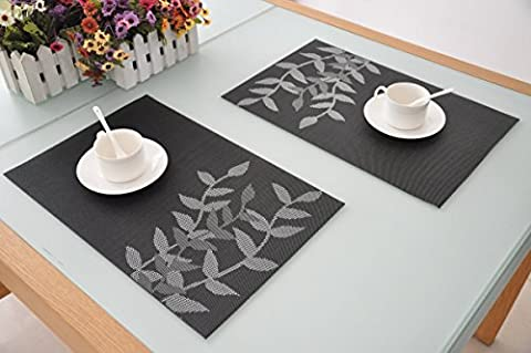 Set de table PVC Placemats Dining Table Sets Résistant à