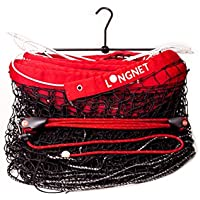 longnet® edición Original completo Pack, sistema de red de voleibol, tenis, bádminton–incluye longnet Net Holder tensor, longnet, Red, Black