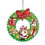 Hilai 1 PC di Ornamenti di Natale Appeso Corona di Natale Babbo Natale del Pendente delle Decorazioni per L