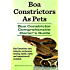 Boa Constrictors As Pets. Boa Constrictor Comprehensive Owner's Guide. Boa Constrictor care, behavior, enclosures, interaction, feeding, health and myths all included.