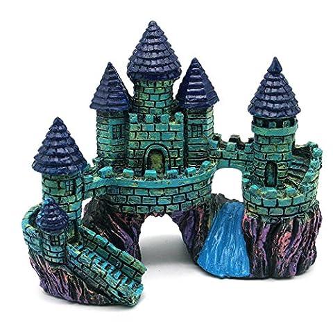 A Antique Little Castle Cartoon Resin Aquariums Decoration Aquarium Fish Tank Tower
