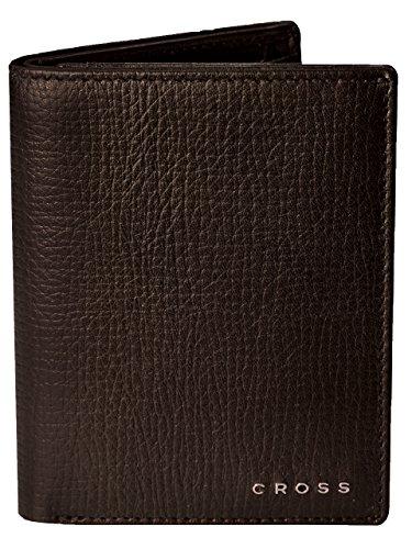 CROSS Geldbörse Herren RTC mit RFID-Schutz   Geldbeutel im Hochformat dunkelbraun, Echt-Leder   Portemonnaie Brieftasche Herrengeldbeutel Herrenbörse Herrengeldbörse Portmonee   in Geschenkbox (Cross-geldbörse)