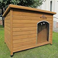 Pets Imperial® Niche Norfolk Extra Large et isolée en bois pour chien avec rails de support et sol amovible pour un nettoyage facile