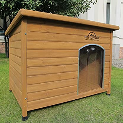 Pets Imperial® Extra Large Insulated Wooden Norfolk Dog Kennel With Removable Floor For Easy Cleaning 1