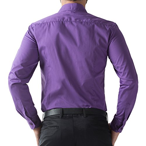 Image of Mens Button Down Collar Shirts French Cuff PJ5252-6 Medium