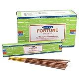 Varitas de incienso de Satya Nag Champa Fortune, Caja de 12 paquetes