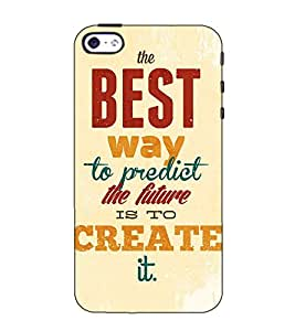 Fuson Designer Back Case Cover for Apple iPhone SE (The best way to predict )