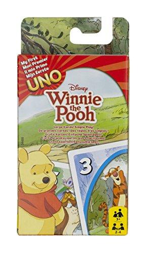 Preisvergleich Produktbild Mattel 54480 - UNO Junior Winnie Puuh, Kartenspiel (Sortiert Modell)