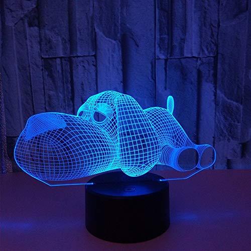 Tier Voodoo 3D Nachtlicht Led 7 Farbwechsel Touch Tischlampe Weihnachten Valentinstag Geburtstag Geschenke Home Office Dekorationen Lampe , Kinderspielzeug