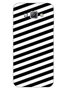 Samsung A8 2015 Back Cover - Monochrome Diagonal Stripes - Pattern - Hard Shell Back Case