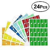 YEAHIBABY Selbstklebende Kabel Etiketten A4 Bunter Wasserdicht Label Aufkleber,P-Art Messer-Faser-Kabel-Aufkleber-Papier,24 Stücke