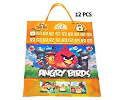 12-Pcs Disney Angry Bird Party Gift Bags Toys bag BAGS PARTY FAVOR BAGS GIFT BAGS