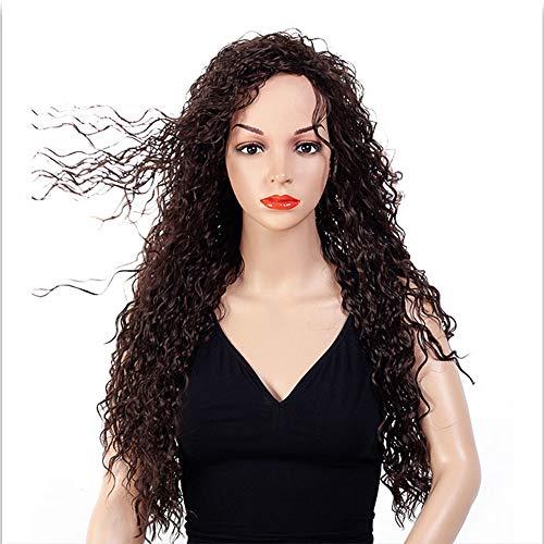 Damen Langes Lockiges Haar Perücke Chemische Faser Klein Lockiges Haar Natürlich Wie Echtes Haar Hitzebeständige Hochzeit die Cosplay Frisur Täglicher Gebrauch