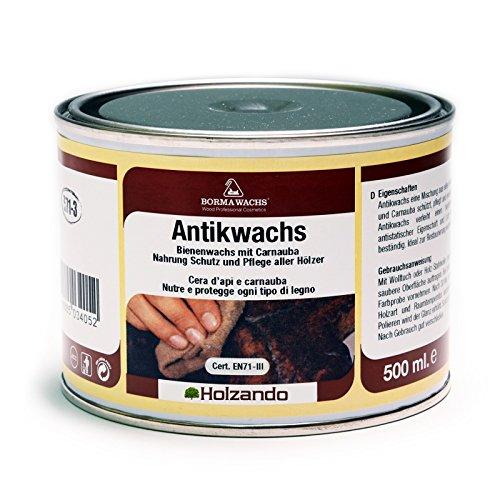 BORMA WACHS 500ml Antikwachs EN-71/3 Zertifiziert (63 - Nussbaum dunkel)