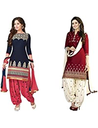 jashvi creation Women's Dress Material (_Multicolor_)