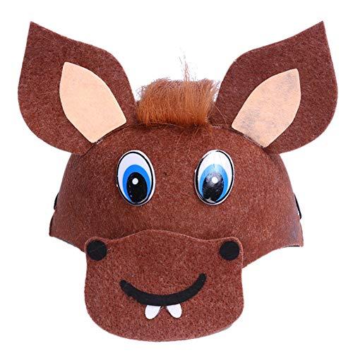 Toruiwa Halloween Mütze Unisex Süßes Tier Kostüm Hut Kinder für Halloween Geburtstag Cosplay Party Karneval Fasching 19.5 * 8.5cm (Pferd) (Halloween-kostüm Kind Pferd)