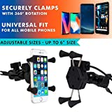 AllExtreme EXHSMH1 Universal X-Grip Spider Mobile Holder Adjustable Cell Phone Holder Stand