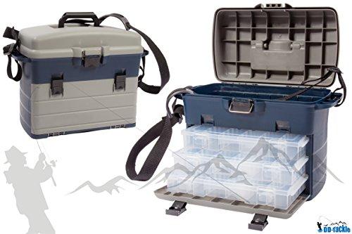 XXL Tackle Organizer / Tacklebox Sitzkiepe Transportkoffer Gerätekasten Forellen