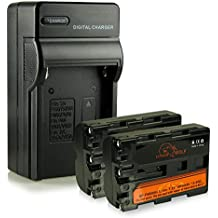 Caricatore + 2x ExtremeWolf Batteria NP-FM500H per Sony Alpha DSLR-A100 | DSLR-A200 | DSLR-A300 | DSLR-A350 | DSLR-A450 | DSLR-A500 | DSLR-A550 | DSLR-A560 | DSLR-A580 | DSLR-A700 | DSLR-A850 | A900