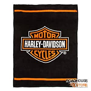 harley davidson microfaser kuscheldecke bar shield k che haushalt. Black Bedroom Furniture Sets. Home Design Ideas